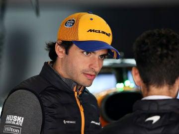 Carlos Sainz durante los entrenamientos del Gran Premio de China