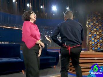 La divertida felicitación de Buenafuente a Silvia Abril por sus cumpleaños (con baile incluido)