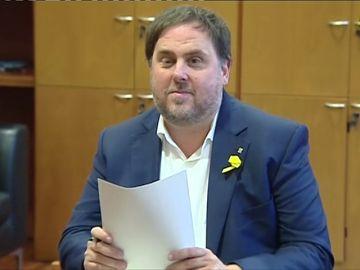 Oriol Junqueras, candidato de ERC al Congreso.