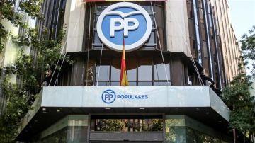 Fachada de la sede del PP en Madrid