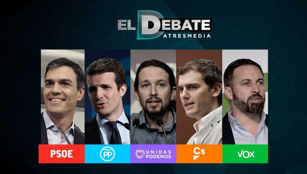 Los candidatos debaten en Atresmedia