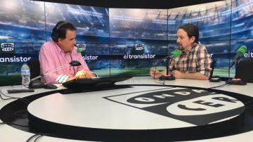 José Ramón de la Morena entrevista a Pablo Iglesias.