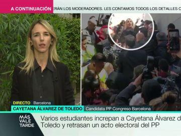 """Cayetana Álvarez de Toledo: """"Son niñatos totalitarios que pretenden secuestrar la universidad con su ideología reaccionaria"""""""