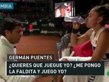 """El polémico trato de su entrenador a la tenista Sara Sorribes: """"Reviéntate la cabeza con esto"""""""