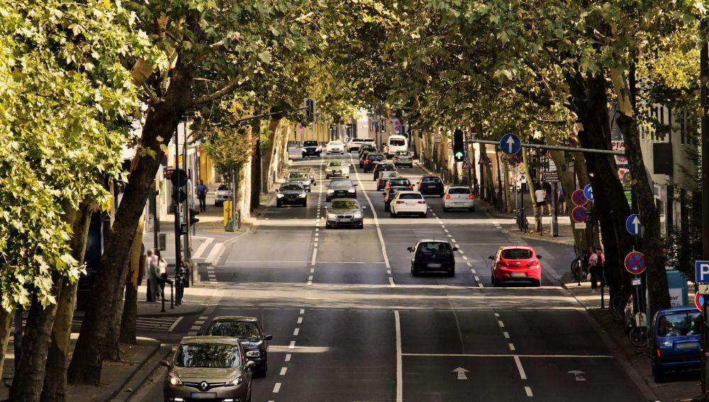 Tráfico en ciudad