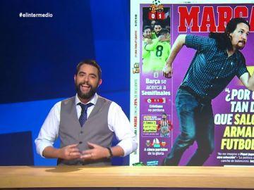 Dani Mateo destapa la rivalidad deportiva entre Pablo Iglesias y Albert Rivera