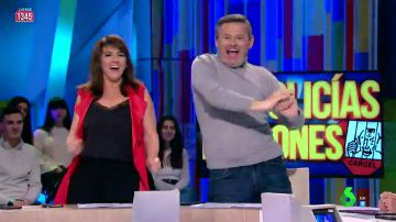 Llum Barrera y Miki Nadal se arrancan a bailar al ritmo de 'Uptown Funk'