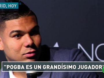 """Casemiro: """"¿Pogba y Hazard? los grandes jugadores siempre son bienvenidos en el Real Madrid"""""""