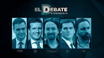 Los candidatos del debate del 23A en Atresmedia