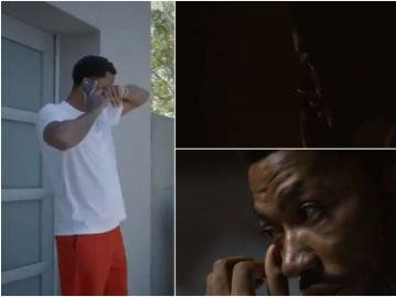Derrick Rose, enterándose de su traspaso a los Knicks