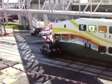 Conductor atropellado por un tren en Florida