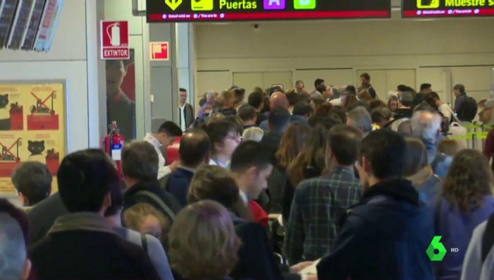 Huelga de trabajadores de Seguridad en el aeropuerto de Barajas