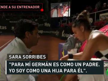 """Sara Sorribes defiende a su entrenador: """"Es como un padre para mí, me duele escuchar ciertas cosas"""""""