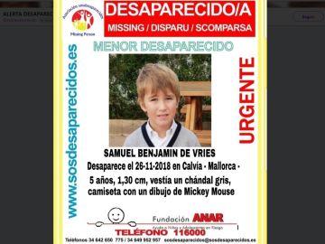 Samuel Benjamin de Vries, desaparecido
