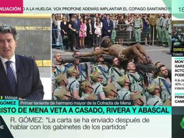 """Ramón Gómez, miembro de la Cofradía de Mena, sobre el veto a los políticos: """"El protagonismo lo iba a perder el Cristo que es lo que nos mueve"""""""