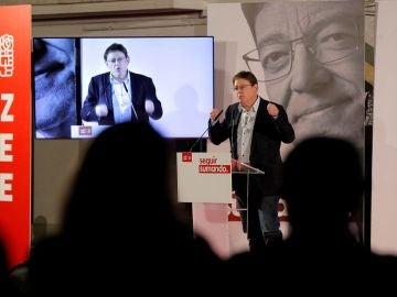 Acto electoral de Ximo Puig