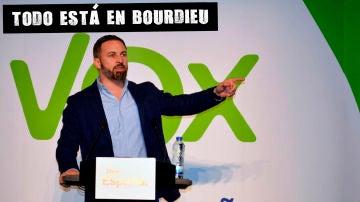 Santiago Abascal en un acto de Vox