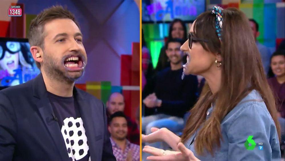 Ana Morgade y Frank Blanco en el Juego de la SemAnna