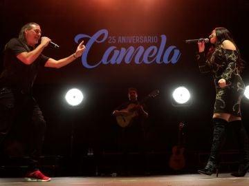 Camela en su concierto en el WiZink Center de Madrid