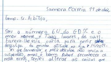 La carta de un niño a un árbitro