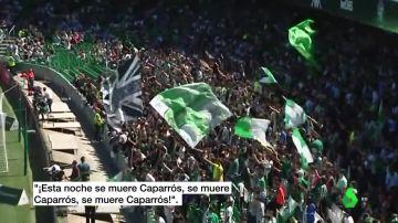 """""""Esta noche se muere Caparrós"""", el cántico escuchado en el Villamarín"""