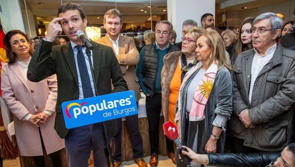 Pablo Casado en un acto en Burgos