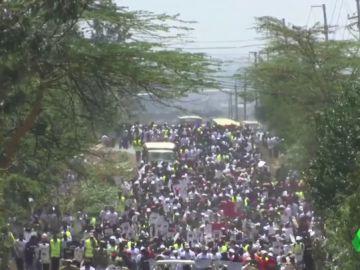 Manifestación en Nairobi