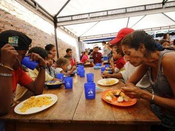 En la imagen, un albergue donde se atiende a ciudadanos venezolanos, en la ciudad de Cúcuta (Colombia)
