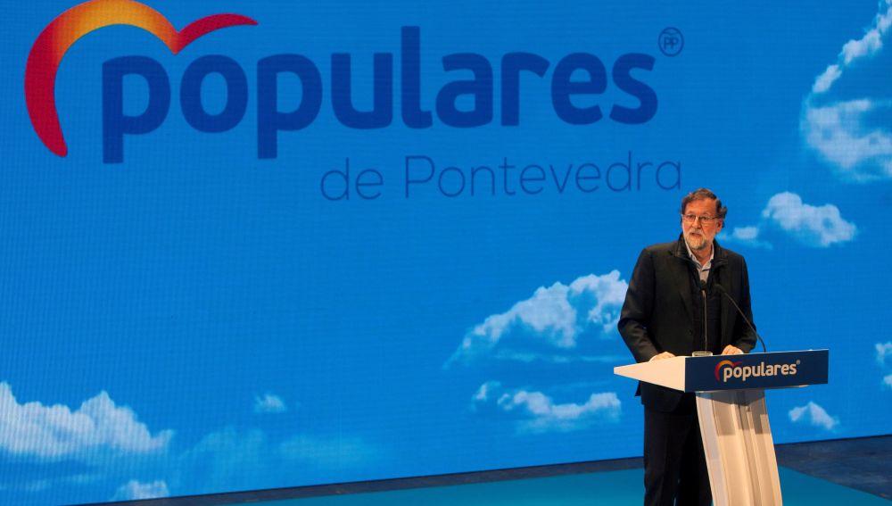 Mariano Rajoy en un acto del PP
