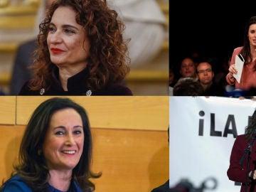 María Jesús Montero, Edurne Uriarte, Irene Montero e Inés Arrimadas