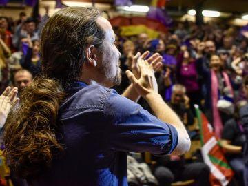 Pablo Iglesias en un acto en Eibar