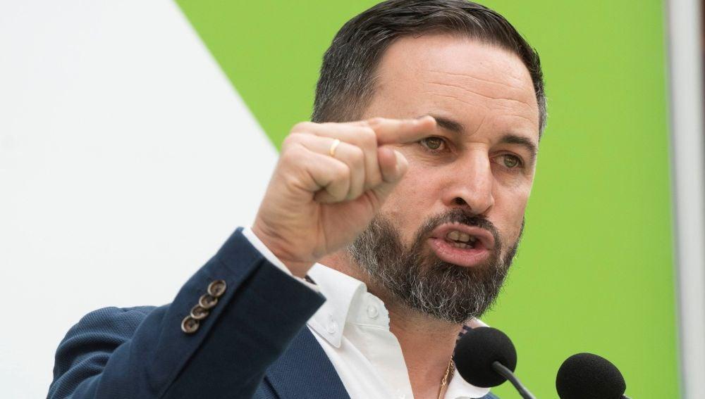 El candidato a la presidencia del Gobierno de Vox, Santiago Abascal