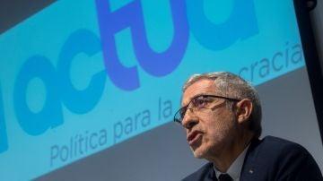 Gaspar Llamazares en la presentación de la formación política Actúa.