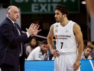 Pablo Laso, con Campazzo