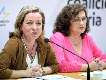 Las candidatas de CC al Congreso de los Diputados por Santa Cruz de Tenerife Ana Oramas y Guadalupe González