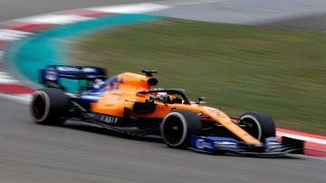 Carlos Sainz, durante el GP de China