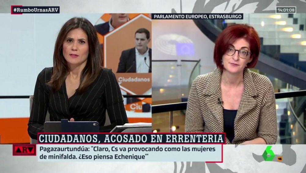 """Maite Pagazaurtundüa, sobre lo ocurrido en Errenteria: """"¿No tenemos derecho a reivindicar nuestra manera de hacer política?"""""""