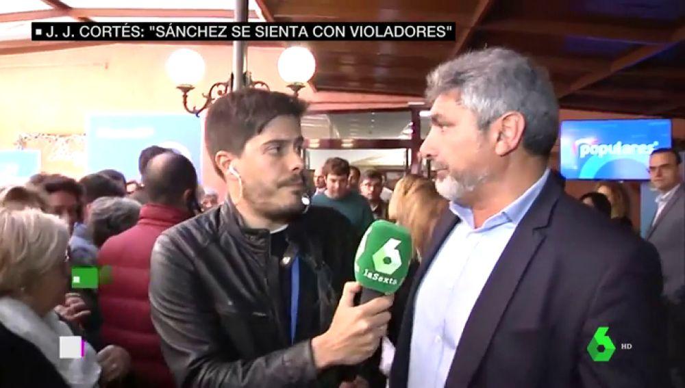 Juan José Cortés con David Junquera