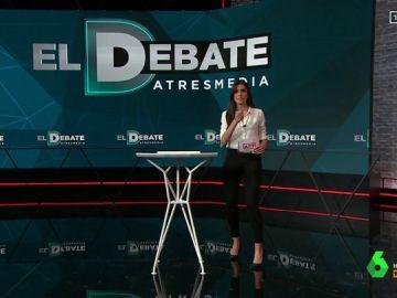 Atril del debate del 23A