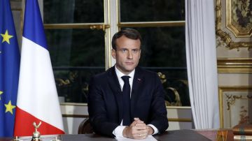 Macron, en una comparecencia como presidente de Francia.