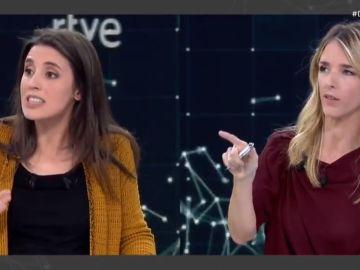 Irene Montero y Cayetana Álvarez de Toledo, en RTVE