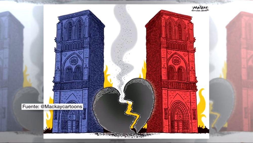 Así vio el mundo el incendio de Notre-Dame a través de los homenajes dedicados a la catedral