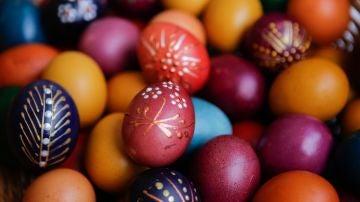 Huevos de Pascua pintados.