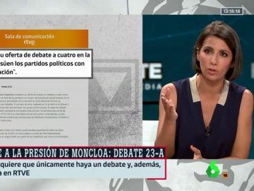 """Ana Pastor, sobre el cambio de fecha del debate en TVE: """"Sorprende que los partidos, que no son el PSOE, no hayan recibido una llamada"""""""