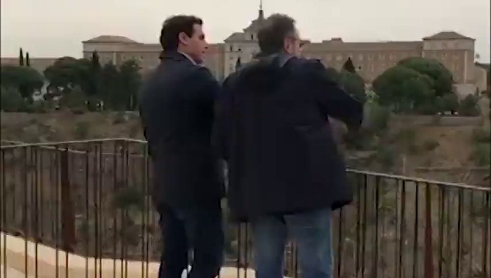 Albert Rivera y Juan Carlos Girauta, a la caza del voto en Toledo
