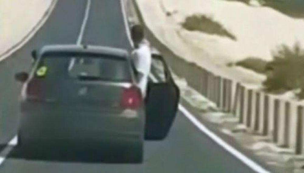 Imprudencia al volante en Fuerteventura