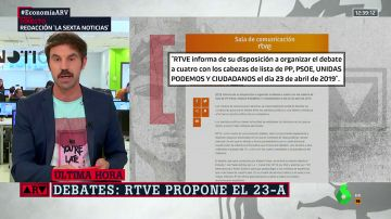 RTVE propone el martes 23 de abril para organizar el debate a cuatro, el mismo día que el de Atresmedia