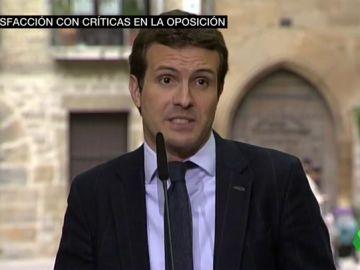 Pablo Casado, ante los medios