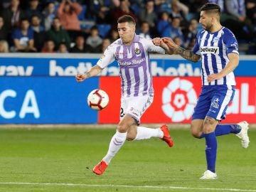 Sergio Guardiola controila un balón ante Guillermo Maripán