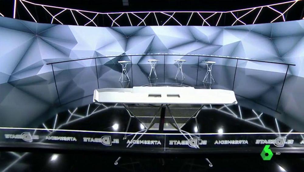 Plató del debate de Atresmedia